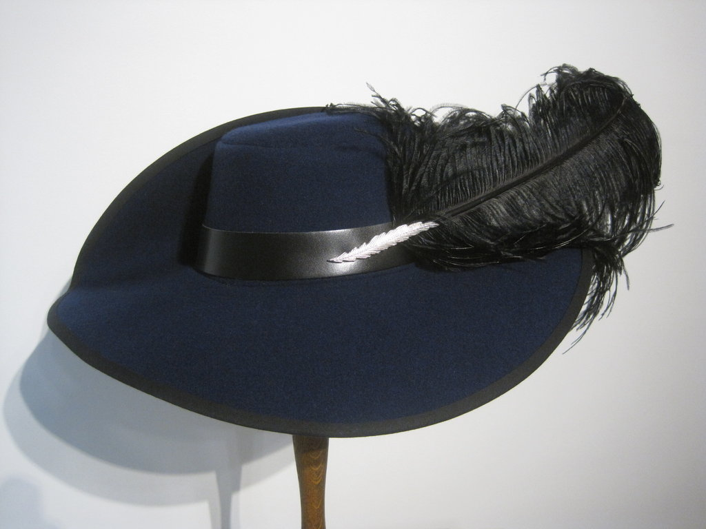Elegant lady's hat with feather 54-64cm 15 colors