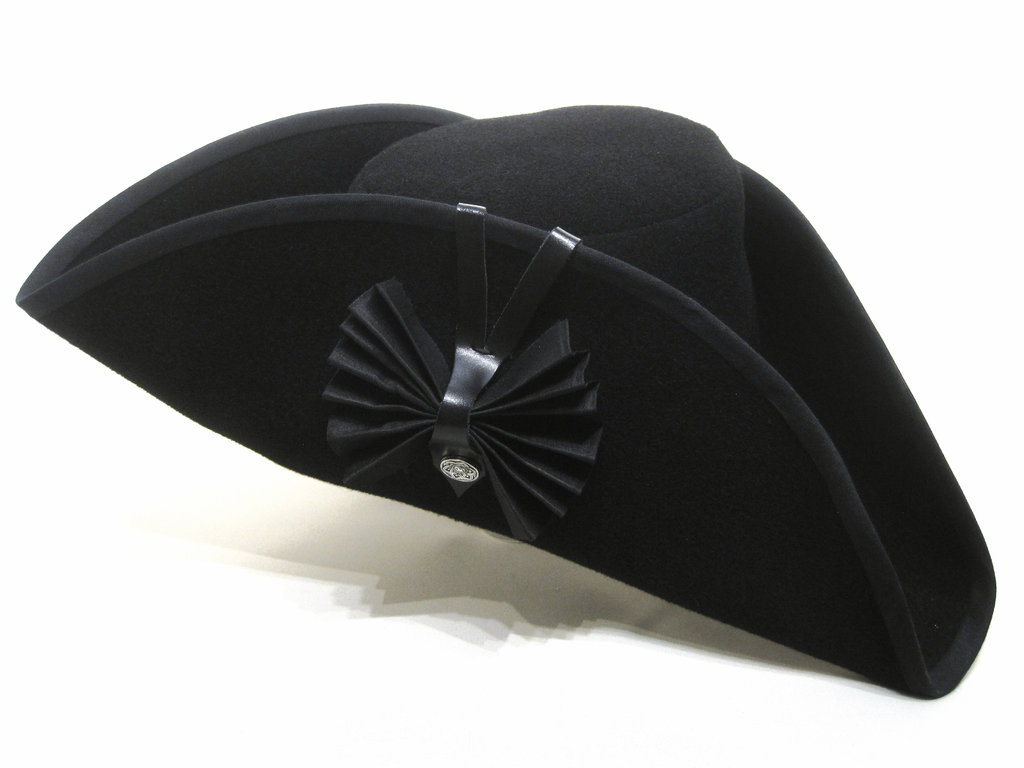 Tricorn black bow in 54-64cm 15 colors