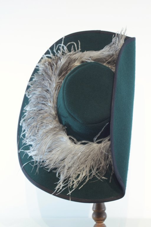 Hat musketeer with byok feathers 15 colors 54-64 cm
