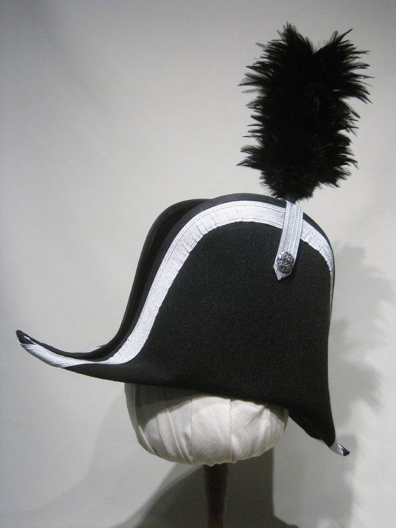 Traditional  historical bicorn with feathers